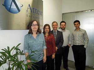 Equipe SEPG da Attest : Maria del Carmen, Silvana Dias, Laércio Nogueira, Bruno Simão, Marcelo Pereira